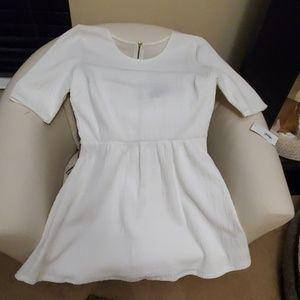 New, never worn, cute white dress